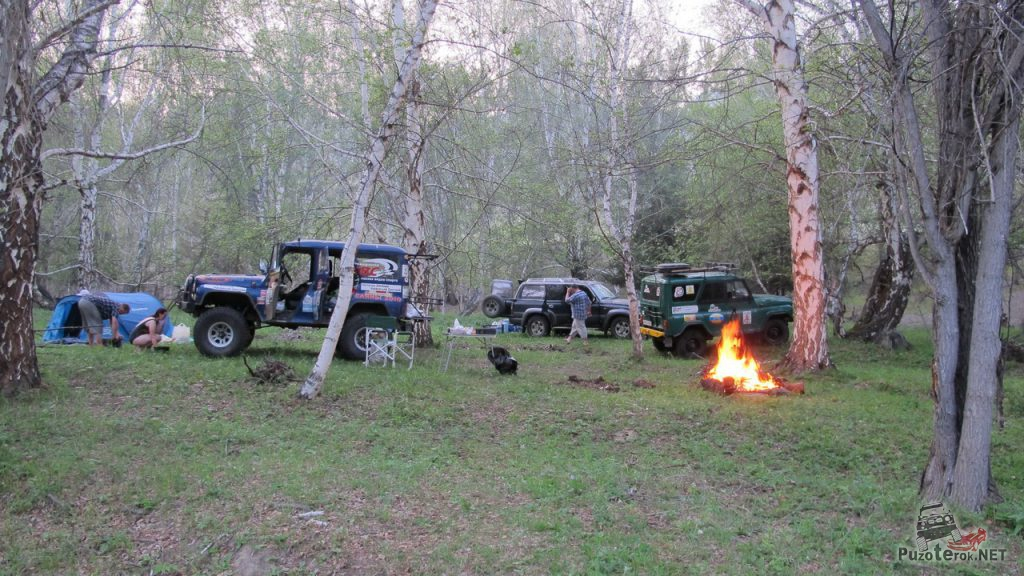 Наш лагерь на Большом Яломане