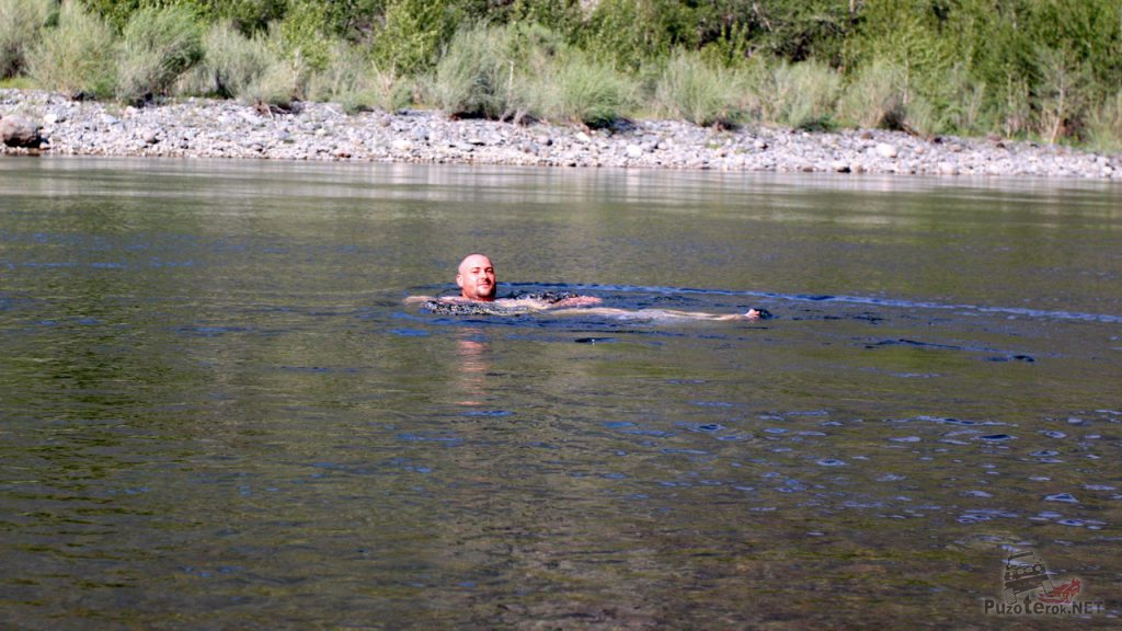Купание в горной реке Чулышман