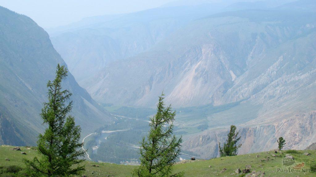 Вид на долину реки Чулышман