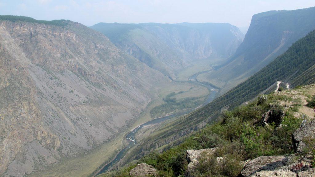 Долина реки Чулышман, вид с перевала Кату-Ярык