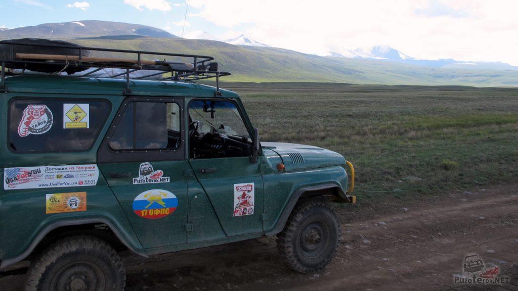 УАЗ на плато Укок