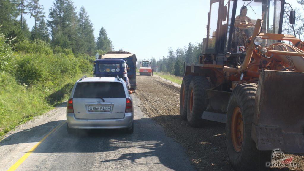 Реконструкция дороги М25 республика Алтай