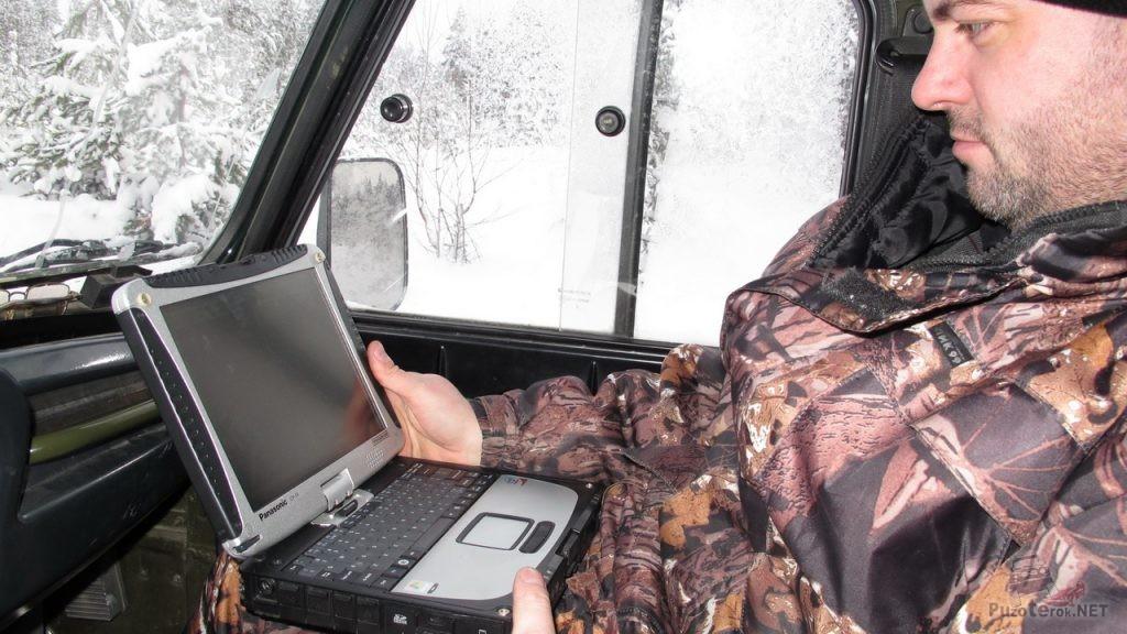 Штурман и навигация в защищенном ноутбуке