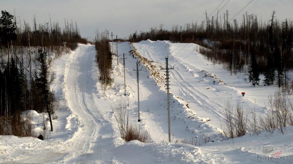 Зимник томской области вдоль трубы