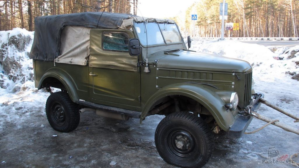 Газ-69 подготовлен для транспортировки