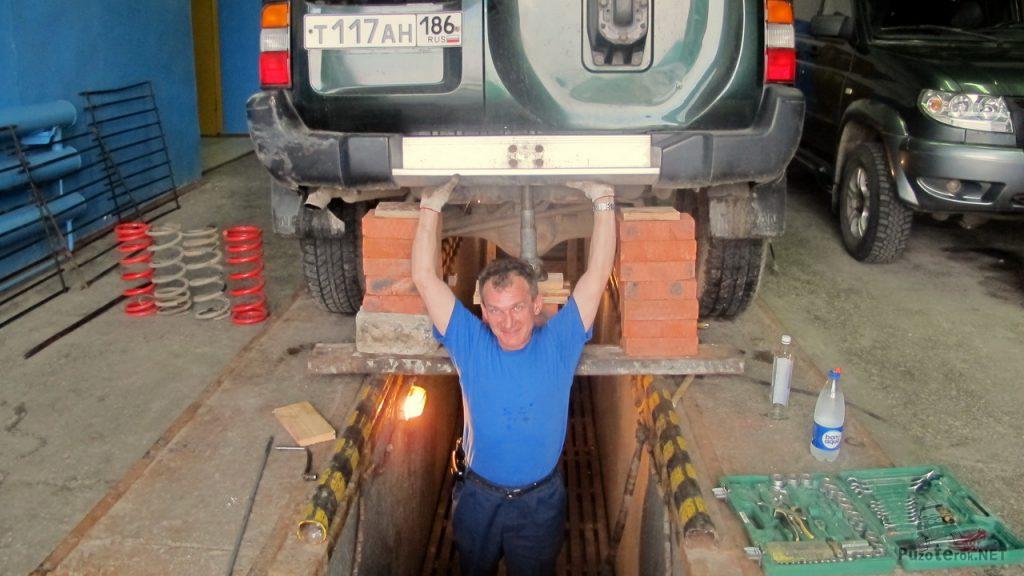 Замена пружин на Nissan Patrol
