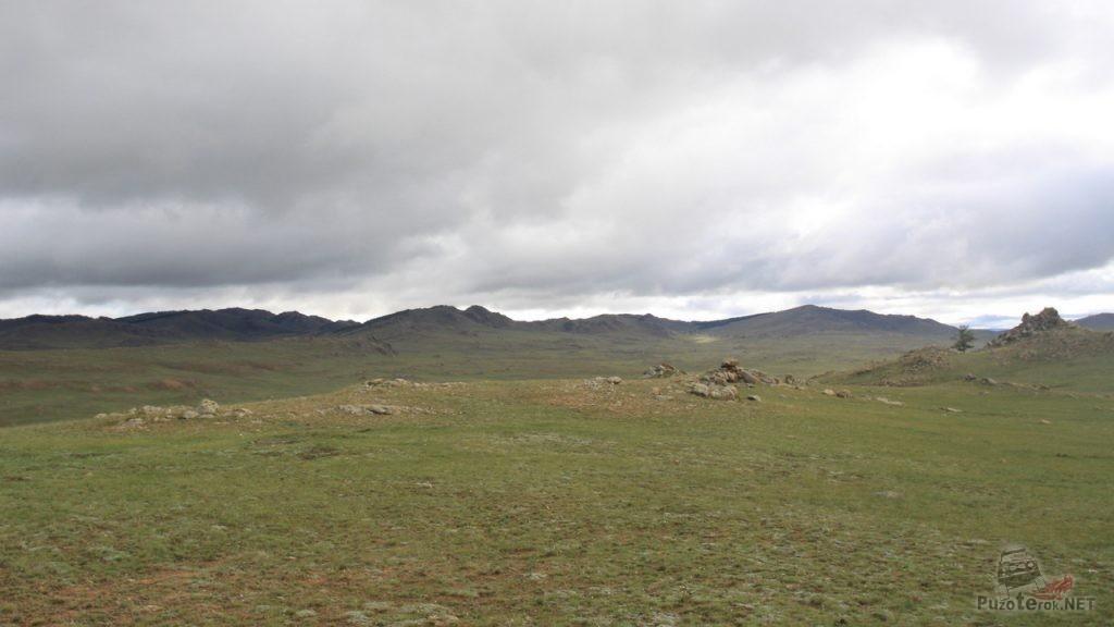 Виды Монгольской степи