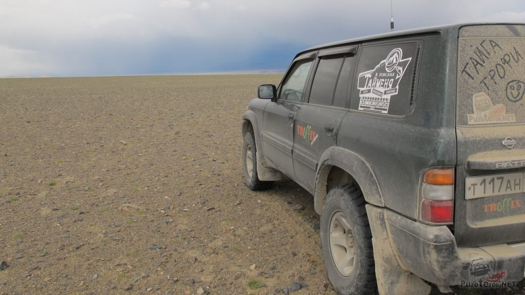 Просторы Монголии, равнина до горизонта