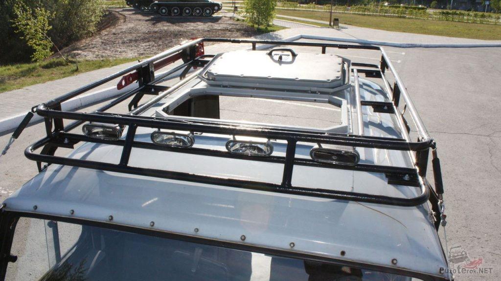 Экспедиционный багажник УАЗ с вырезом под люк