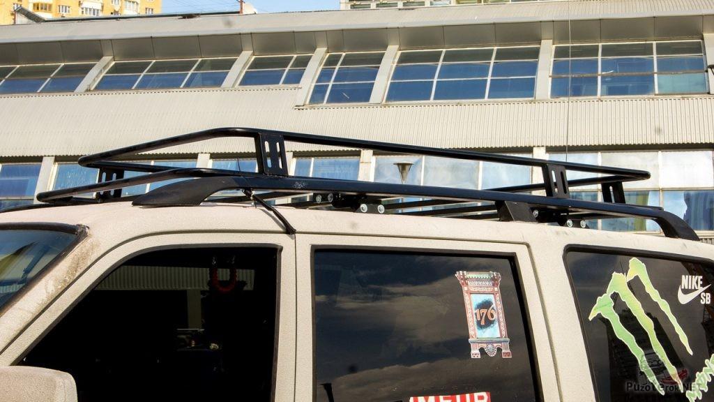 Крепление багажника УАЗ Патриот на рейлинги