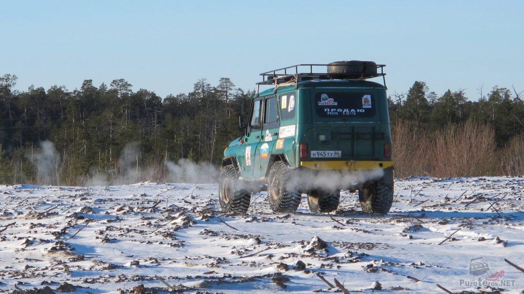 Путешествие зимой на УАЗ-31519