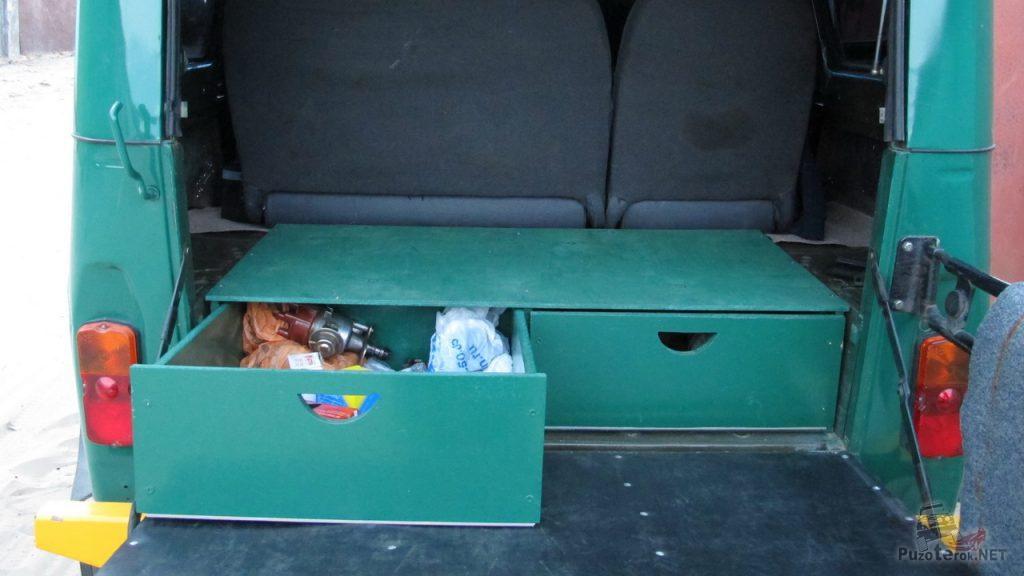 Рундуки в багажник УАЗ 469 и УАЗ Хантер