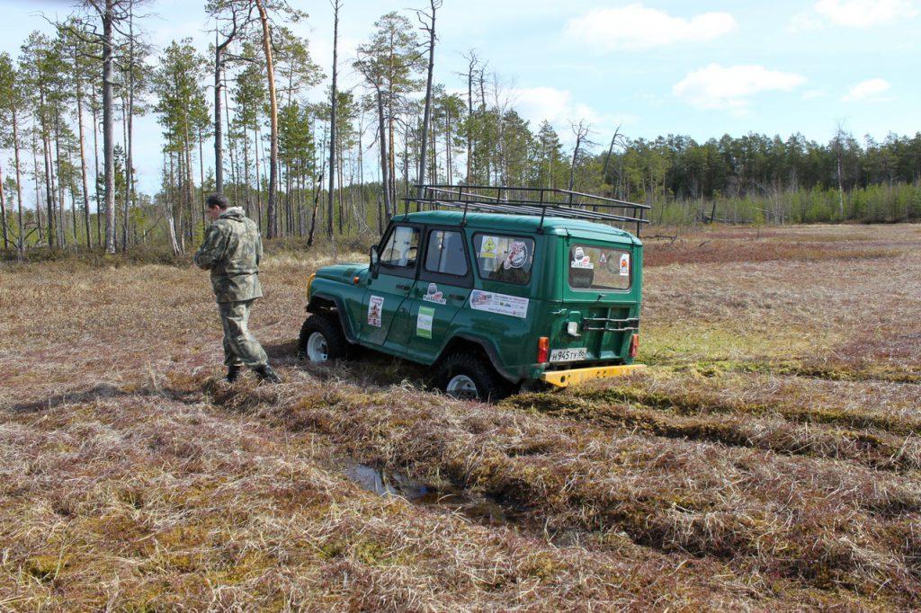 Фото УАЗ в болоте