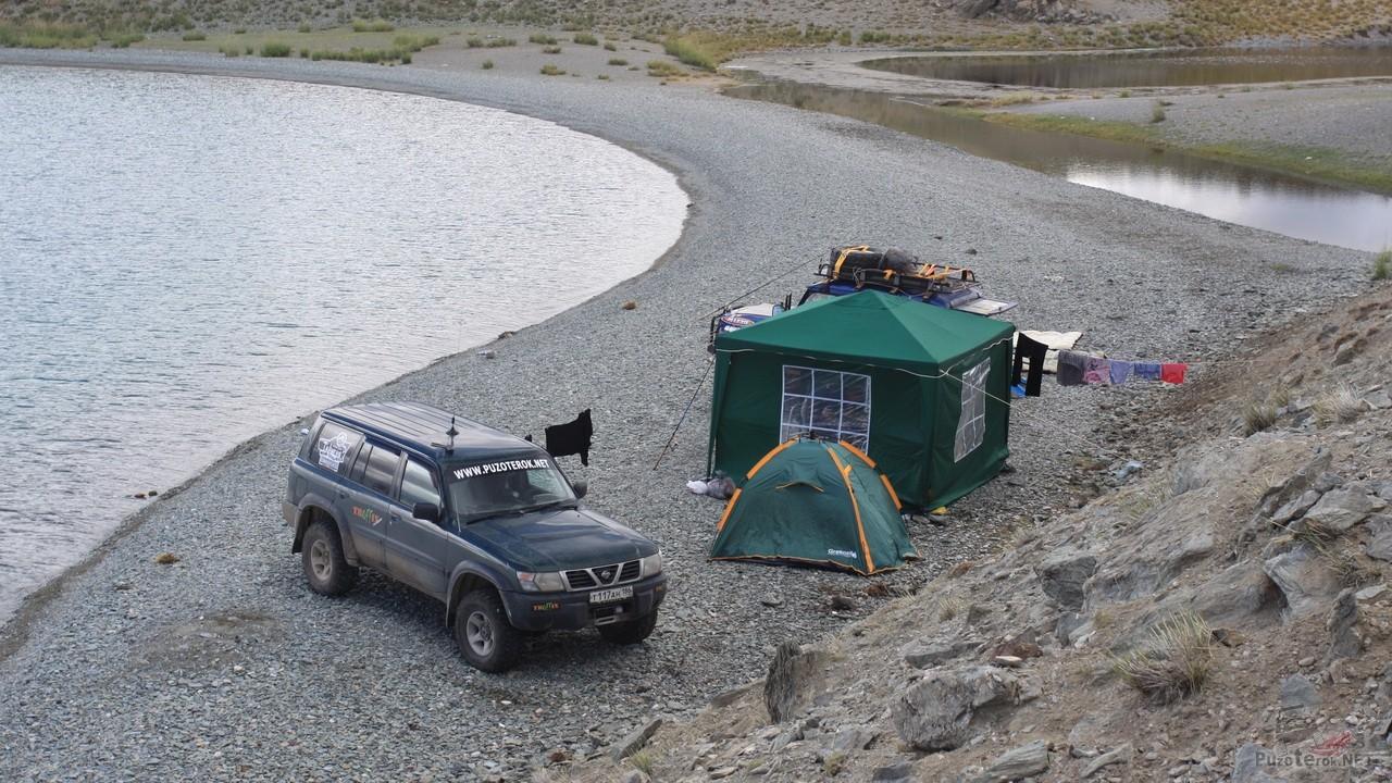 Место для рыбалки на озере Урег-Нур