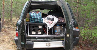 Спальное место в Ниссан Патрол с забитым багажным отсеком снизу