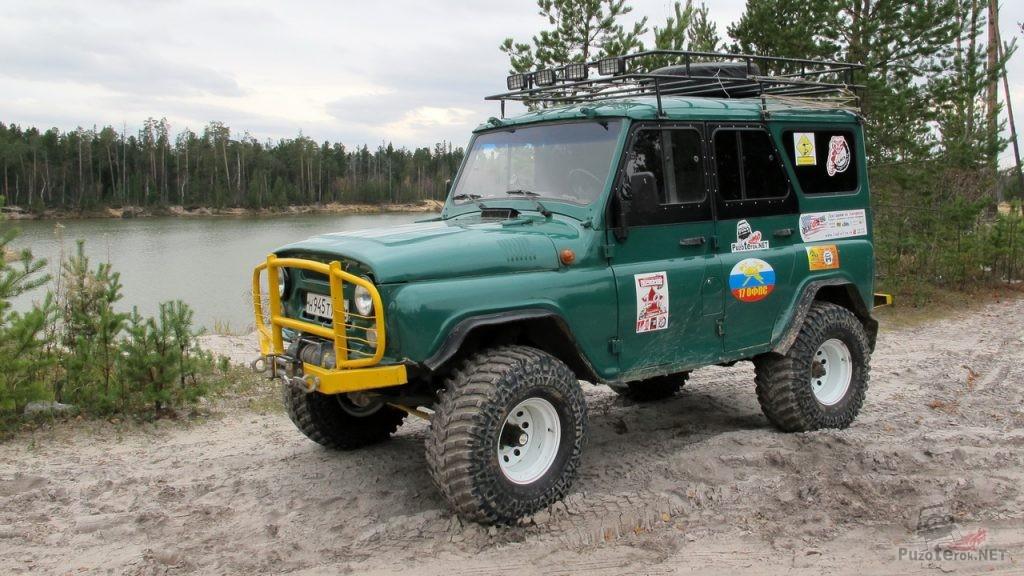 УАЗ 31519 на военных мостах с 35 шинами Maxxiss Mudzilla