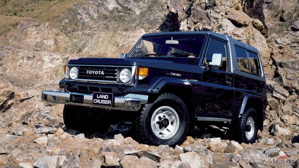 Toyota land-cruiser 1990 года на курумнике в горах