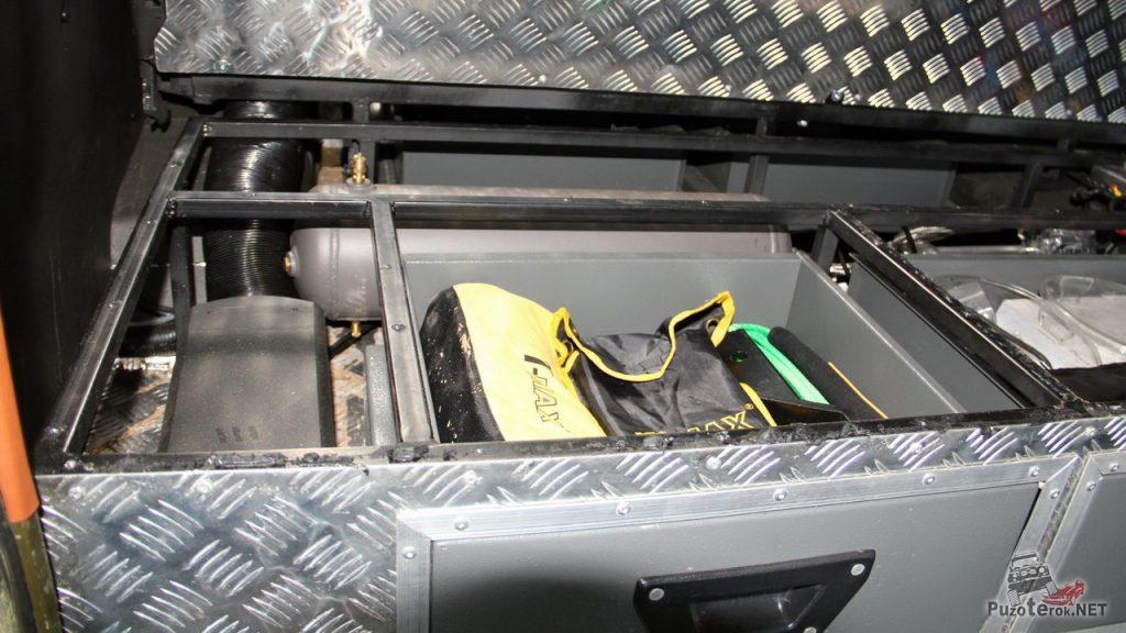 Содержимое органайзера в багажном отсеке