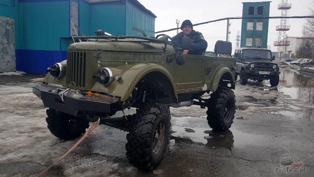 Переделанный ГАЗ-69 для трофи