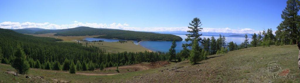 Вид на озеро Хубсугул, красивые места