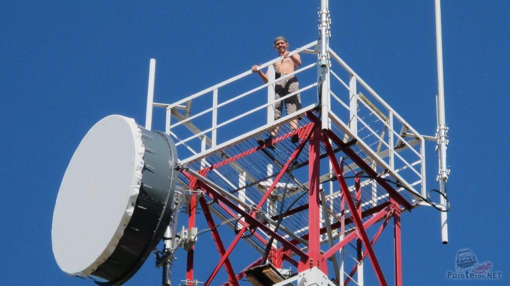 Шатун на вышке сотовой связи