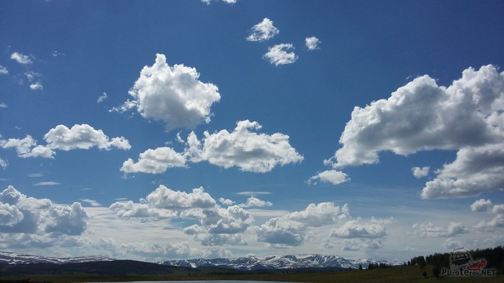 Красивое небо на Алтае
