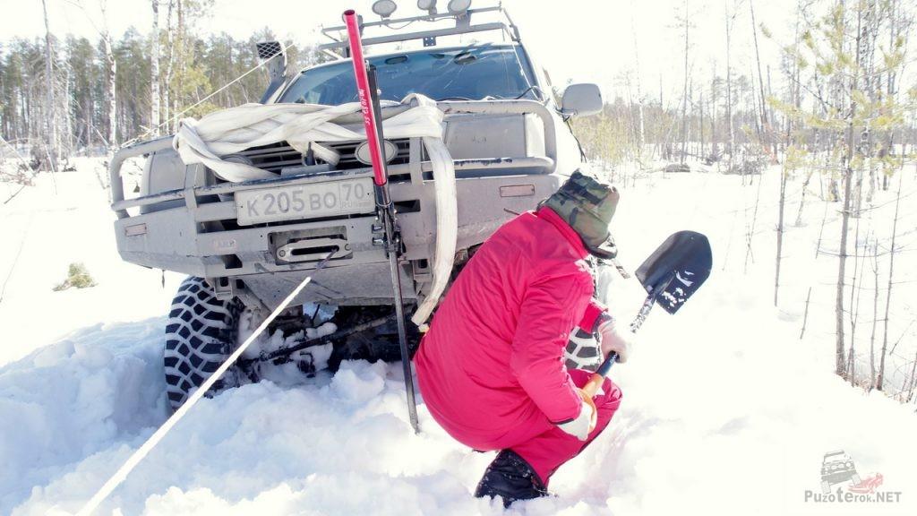 Creepy Crawler зимой по снегу не плющится и не едет