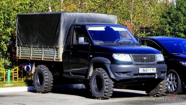 Фото УАЗ 23602 Cargo на внедорожных шинах Simex
