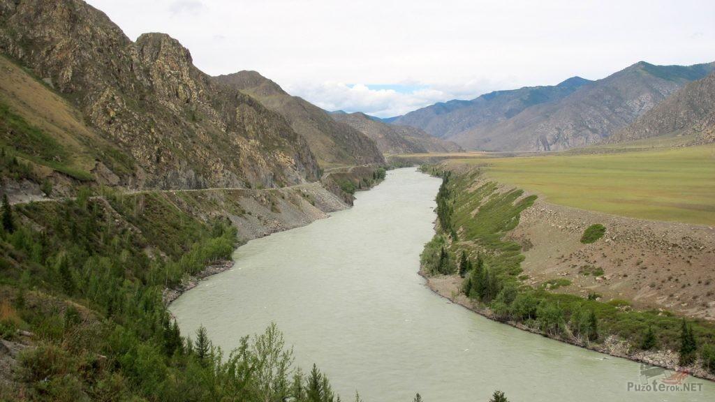 Вид на реку Катунь
