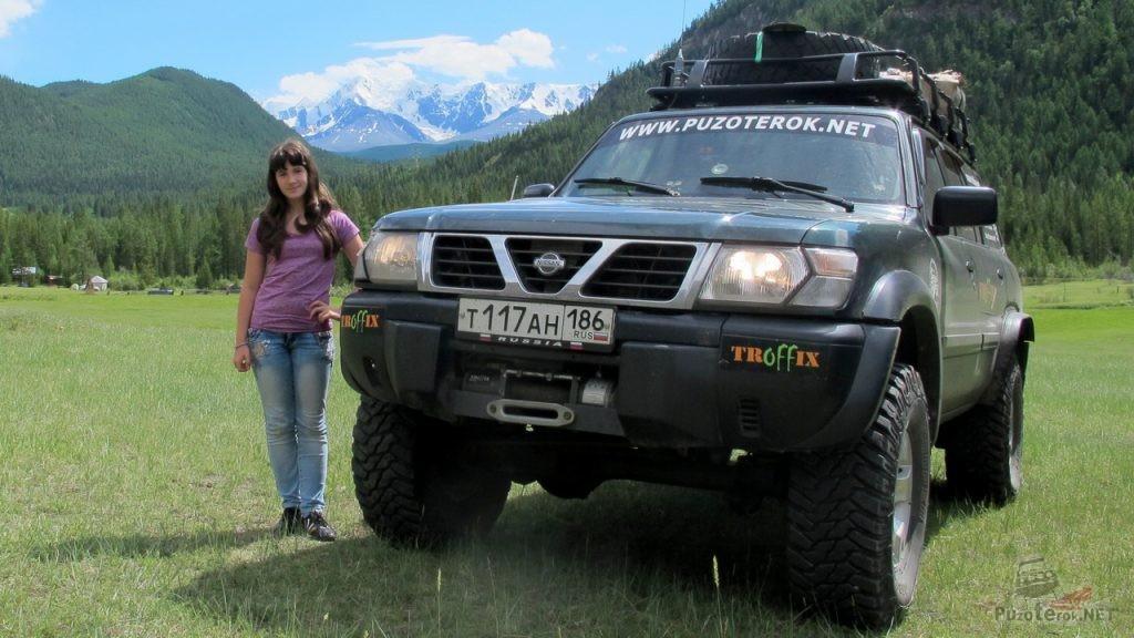 Фото экспедиционный ниссан патрол на Алтае