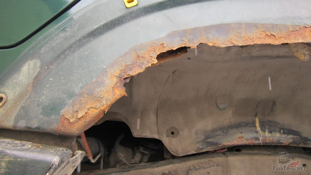 Колесные арки Ниссан Патрол требуют ремонта
