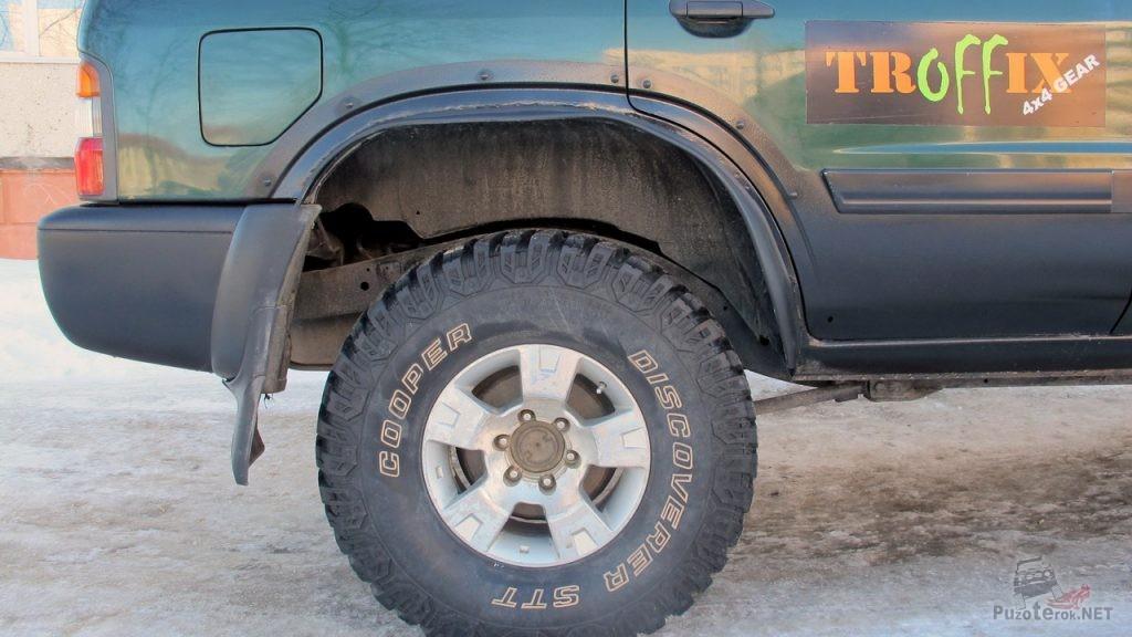 Отремонтированные задние арки Nissan Patrol