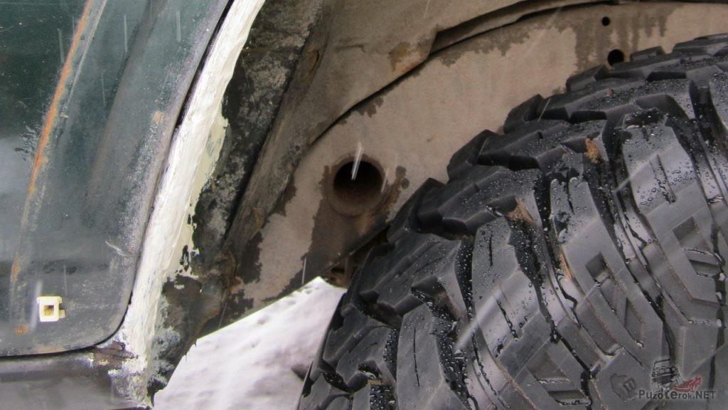 Ремонт задних колесных арок Nissan Patrol