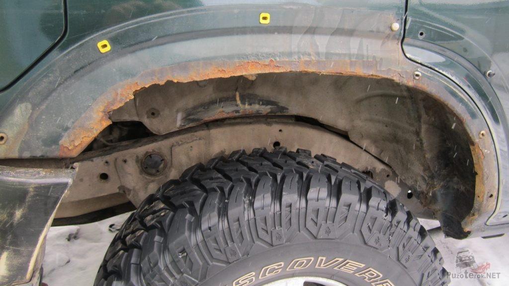 Сгнившие колесные арки