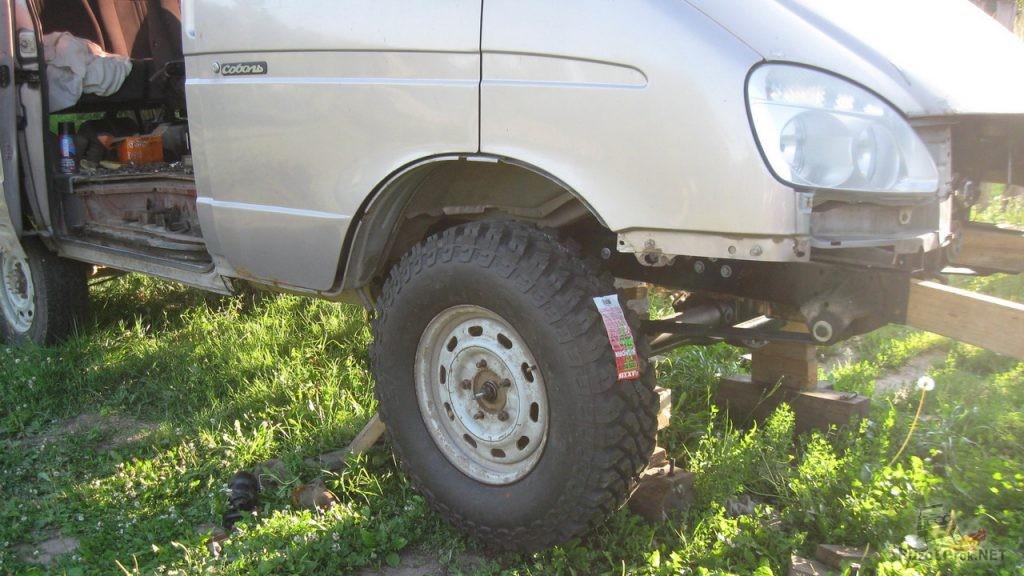 Арки Соболь 4х4 позволяют ставить большие колеса