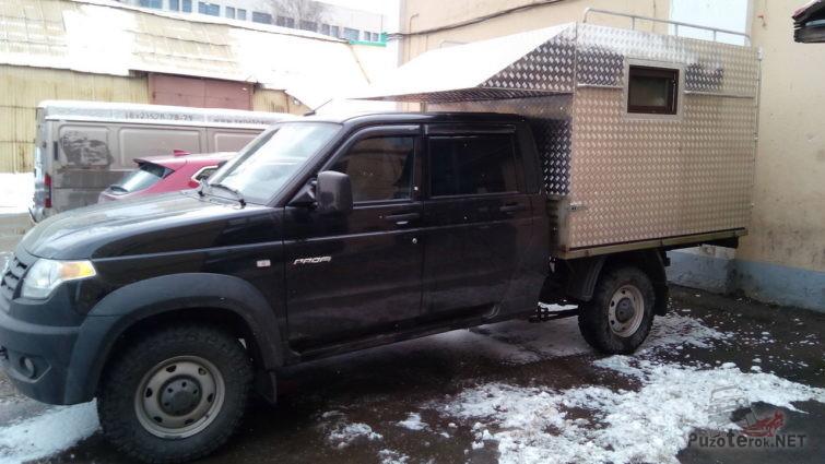 Автодом из УАЗ-профи с двухрядной кабиной