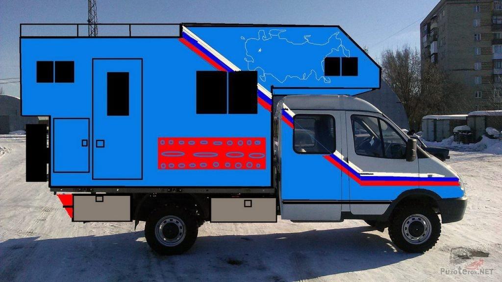 ГАЗ Соболь кемпер автодом концепт