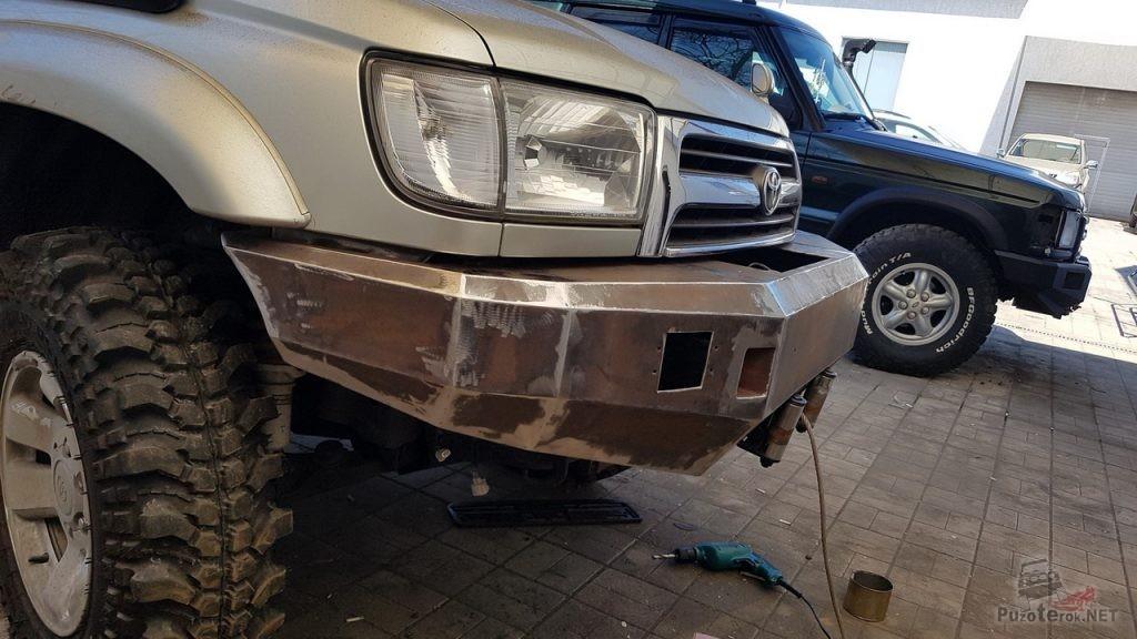 Изготовление своими руками силового бампера на Toyota Hilux Surf
