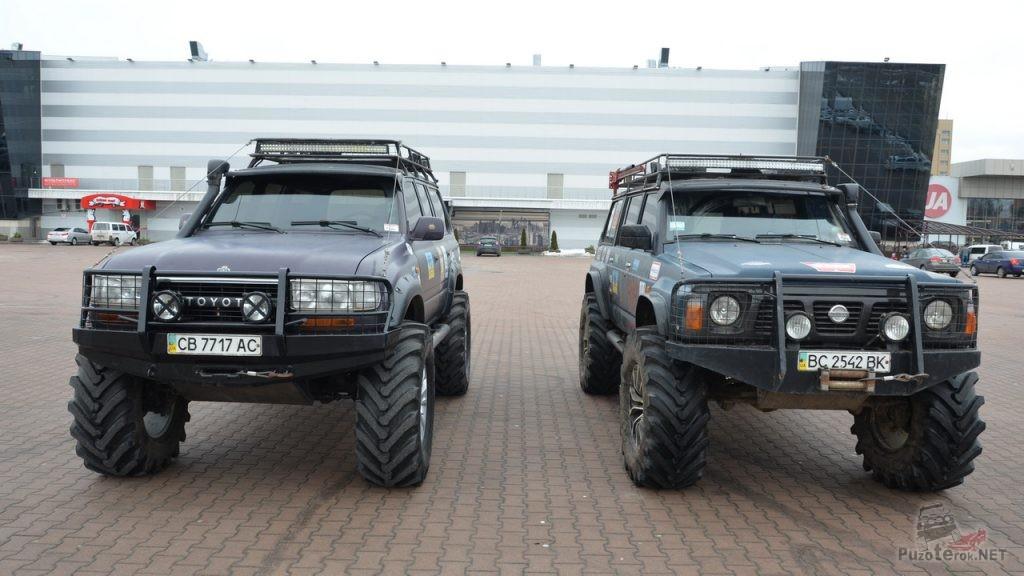 Лэнд крузер и Ниссан патрол на мостах Volvo c303