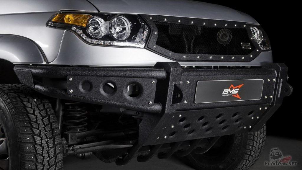 Передний силовой бампер BMS на УАЗ Патриот
