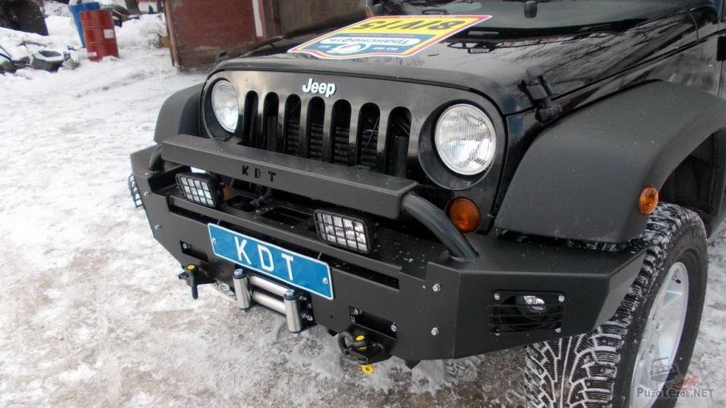Силовой бампер от КДТ на Jeep Wrangler