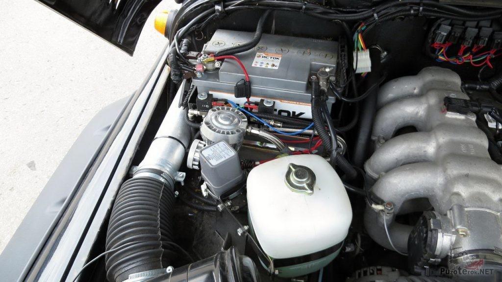 Установка компрессора Viair на УАЗ Хантер