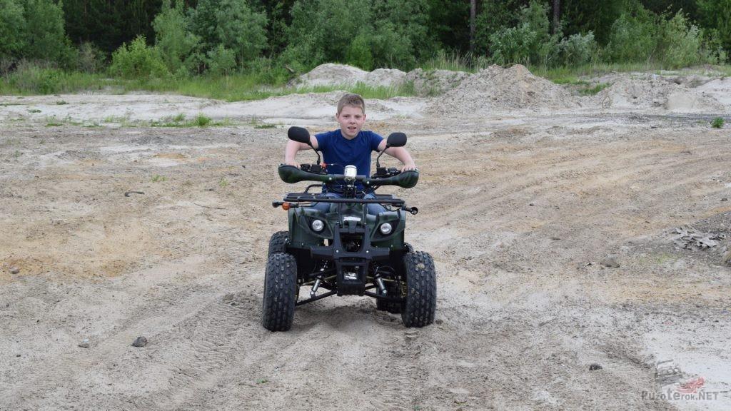 Выезд на карьер на детском квадроцикле