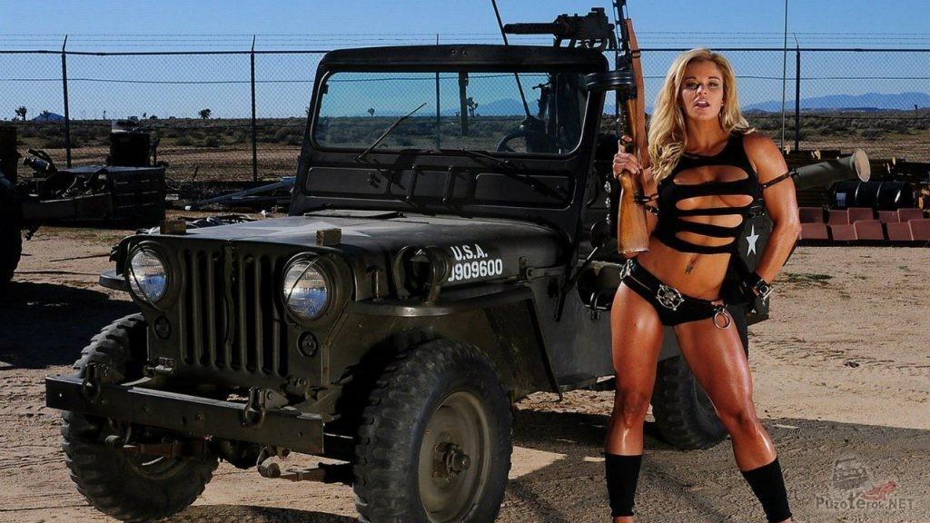 Девушка с оружием и старый Виллис