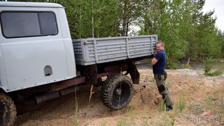 Диагональное вывешивание УАЗ Фермер