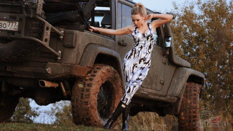 Фотосессия Miss Marzipanka и jeep