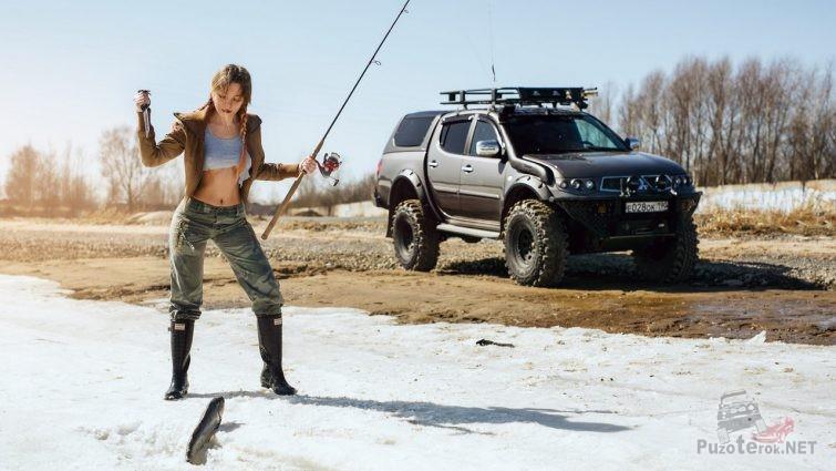 Фотосессия Miss Marzipanka на рыбалке