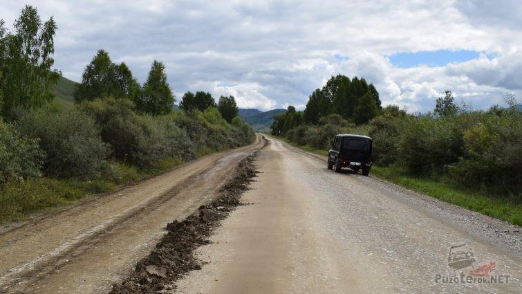 Гравийная дорога в Солонешенском районе