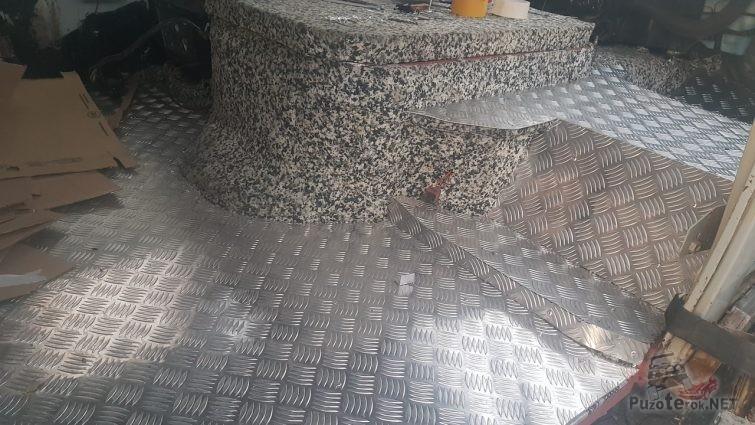 Обшивка пола УАЗ Фермер алюминием