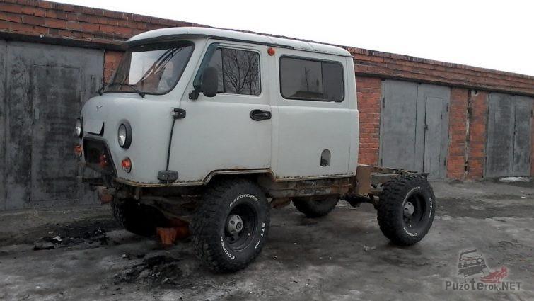 Подрезка и обварка кузова УАЗ Фермер